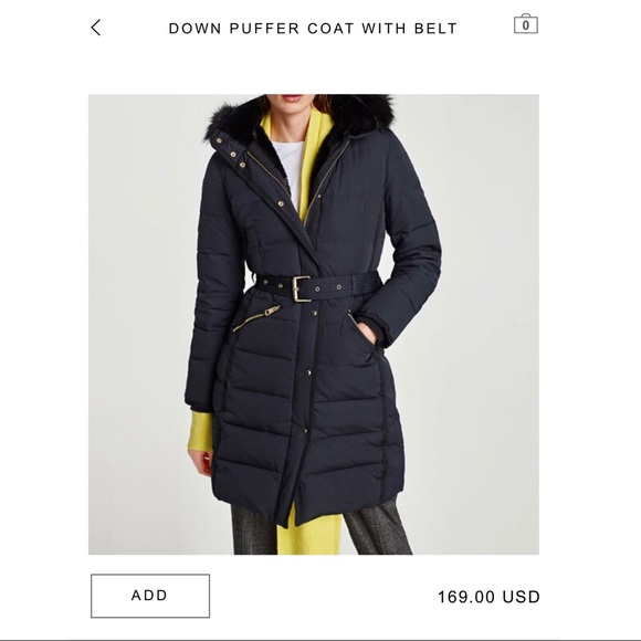 newest collection finest fabrics choose clearance Zara down puffer jacket NWT